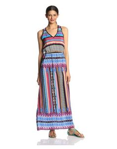 Tolani v neck maxi dress