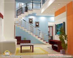 staircase design 2 story open | ... it designers home design in kannur global complex ii nd floor
