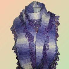 Schal mit rüscheln – Universalecke Stuff To Buy, Fashion, Lilac, Accessories, Modern Women, Scarf Crochet, Nice Things, Scarves, Handarbeit