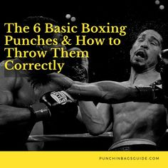 The 6 Basic Boxing Punches & How to Throw Them Correctly - Healty fitness home cleaning Boxing Training Workout, Boxer Workout, Home Boxing Workout, 300 Workout, Combat Training, Agility Training, Workout Ideas, Boxing Techniques, Martial Arts Techniques