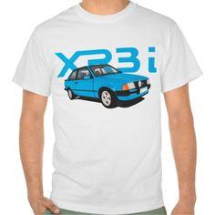 Ford Escort MK3 XR3i blue  #ford #escort #fordescort #mk3 #xr3i #tshirt #thirts #automobile #car #uk