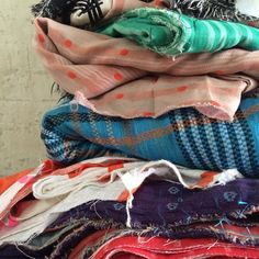 Stacked Ace & Jig textiles in India