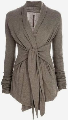 Gray Light Weight Wrap Up Cardigan | Fashion Prevail