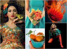 Сочетания с оранжевым цветом - Красота, вдохновленная природой