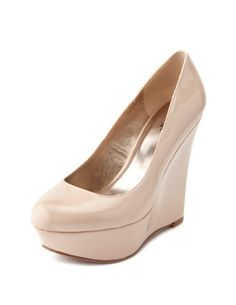 Nude wedges. I am really wanting some nude heels lately.