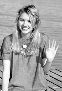Hannah Murray // Someday I will master the art of just-messy-enough hair like her
