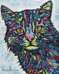 Diligence cat abstract Dean Russo cross stitch kit | Yiotas XStitch