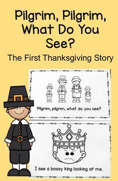 First Thanksgiving Story Emergent Reader