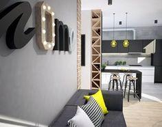 Aranżacje wnętrz - Salon: Projekt mieszkania w Warszawie - Mały salon z kuchnią, styl industrialny - Mart-Design Architektura Wnętrz. Przeglądaj, dodawaj i zapisuj najlepsze zdjęcia, pomysły i inspiracje designerskie. W bazie mamy już prawie milion fotografii!