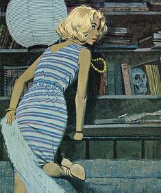 Robert McGinnis - Lady in the Library