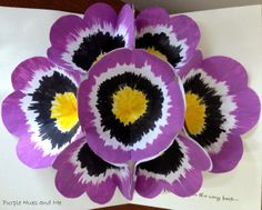 """Purple Hues and Me: Pansy Pop Up """"Get Better"""" Card #serenitysaturday #cards #spring"""