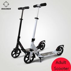 111.01$  Watch here - http://ali2ht.shopchina.info/go.php?t=32778256787 - 2016 upgrade adult scooter aluminum two big wheels folding for adults children district scooter monopatin scooter   #shopstyle