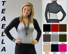 Comfy Long Sleeve Shrug Bolero Cardigan s M L XL Lots of Colors | eBay