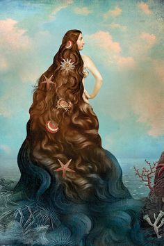 Virgin Island Water by Catrin Welz-Stein (one of my favorite artists) is printed with premium inks for brilliant color and then hand-stretched over museum quality stretcher bars. Money Back Guarantee AND Free Return Shipping. Art And Illustration, Fantasy Kunst, Fantasy Art, Arte Peculiar, Water Art, Water Water, Mermaid Art, Moon Art, Whimsical Art