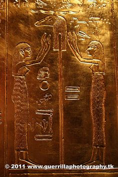 Tutankhamun, solid Gold Hieroglyphs depicting the Alchemy and Genetic manipulation of the Gods, Animals, and Alien DNA to turn Human kind into a 'Slave Race' of into Limited Conciousness. Out True Father God or Prime Creator, allowed this as our planet was then moved into a 'Duality' of Good and Evil. We as humans, agreed to this, and God has now decreed that this 'game' is over, and we are to be freed of the Dark Alien forces, and their 'Illuminati/Cabal human hybrids. (2014, 2015).