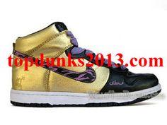 save off 79e09 8d754 TG Lazy Gold Black Nike Dunk High Top SB High Quality Nike Dunks, Black  Nikes