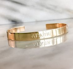 Greek Letters Custom Hand Stamped Jewelry - Custom Bracelet Cuff - Personalized Your Name Here, Bible Verse, Mantra, Inspirational Jewelry Metal Bracelets, Metal Jewelry, Custom Jewelry, Jewelry Art, Cuff Bracelets, Silver Jewelry, Silver Earrings, Silver Bracelets, Silver Ring