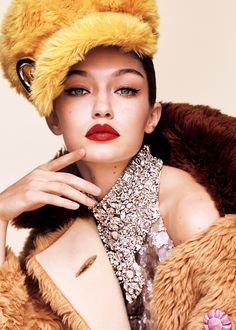 Photographer: Luigi & Iango Model: Gigi Hadid Styling: Anna Dello Russo Hair: Luigi Murenu Make-Up: Yumi Lee