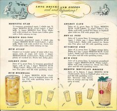 Retro Recipes, Vintage Recipes, Picnic Drinks, 1940s Party, Long Drink, Cocktails, Port Wine, Whole Eggs, Gold Labels