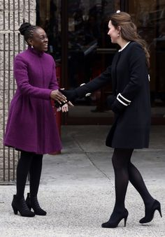The Duchess of Cambridge visits a child care center in Harlem.