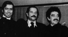 """Todos digan en vez de """"Clic""""...""""Boom"""":   Mario Vargas Llosa, Carlos Fuentes y Gabriel García Márquez."""