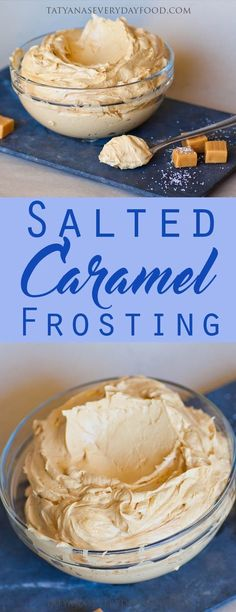 Salted Caramel Frosting - perfectly balanced buttercream made with sweet dulce de leche caramel! This is one of my all-time favorite recipes and it's perfect for frosting cakes and cupcakes. View Recipe Link