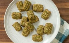 """Cauliflower and Broccoli Tots - I made these today and I am happy to report that my toddler gobbled them up!! I did mine in the oven a little longer than it says, since I think I used more veggies than it called for. I used Whole Foods """"Seeduction"""" bread to make the bread crumbs... delish!! I will be making again soon :)"""