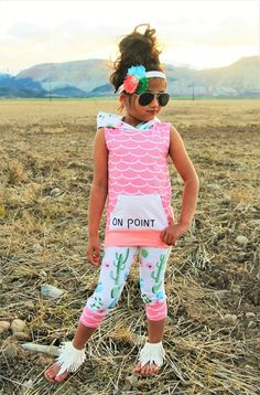 "Cactus ""On Point"" Hoodie Tank Top Set #boutique-outfits #clearance #daily-deal #daily-deals #new #newborn-clothing #perfect-sets #spring-line"