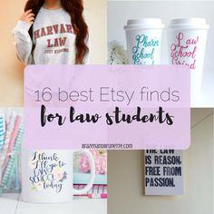 16 Great Law School Finds from Etsy | brazenandbrunette.com