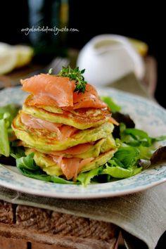 """Dafne's Corner """" il Gusto"""": Pancake di zucchine con salmone affumicato e salsa..."""