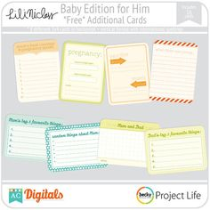 Baby Edition for Him Extra Cards-free printable