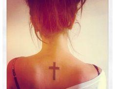 Cross/faith tattoo #necktattoo #tattoo #cross #neck