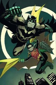 Batman and Robin #40 interior art by Patrick Gleason *