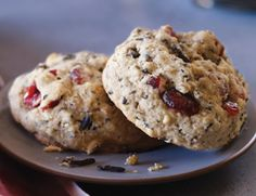 GLUTEN FREE Wild Rice and Dried Cranberry Cookies:  Cooked wild rice replaces oats (which can be tainted with gluten) in this variation on old-fashioned oatmeal-raisin cookies.