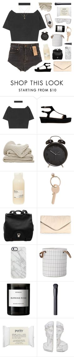 """i'm back guysss"" by emmas-fashion-diary ❤ liked on Polyvore featuring Valentino, Davines, Maison Margiela, Proenza Schouler, MR., Uncommon, ferm LIVING, Byredo, NARS Cosmetics and philosophy"