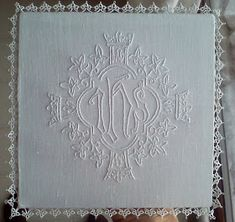 Catholic Altar, Fibre And Fabric, Altar Cloth, Sewing Stitches, Red Cross, Lace Design, Hand Embroidery, Tatting, Weaving