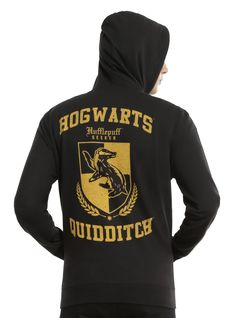 Harry Potter Hufflepuff House Quidditch Hoodie on hottopic.com