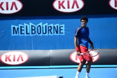 Jo Wilfried Tsonga practising ahead of the Australian Open 2014 - Ben Solomon Tennis Australia