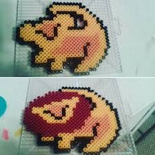 Image result for carl and ellie perler beads