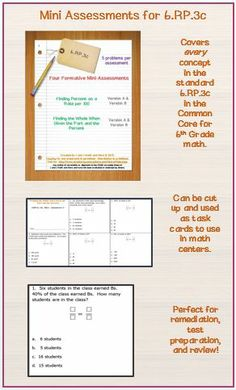 mini-assessments (6th grade math).