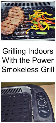 Grilling Indoors With the Power Smokeless Grill - Indoor Grill - Ideas of Indoor Grill - Do you enjoy grilling? I love to grill out but hate when the weather interferes. If its snowing or raining we most likely wont be outside using our grill Vegetarian Grilling, Healthy Grilling Recipes, Grilling Ideas, Cooking On The Grill, Cooking Time, Cooking Ideas, Pellet Grill Recipes, Oven Recipes, Grilled Fish Recipes