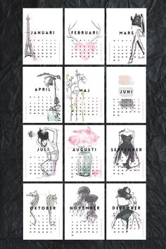 FOR YOU ♡ Free printable mini calendar • 2015
