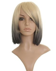 Light Blonde in to Black Dip Dye Bob Ladies Wig - - Premium Quality Synthetic Hair- Perfect for Halloween by Wonderland Wigs. $43.99. 100% Kanekalon synthetic fibre - high quality natural look. Same day despatch. Discreet packaging. Blonde in to Black dip dye bob wig. Short/bob. This stunning mid-length blonde dip-dye wig is in the style Hollywood A-Lister Drew Barrymore. Inspired by her stunning dip-dye hair we have designed this wig based on her gorgeous hair style. This luxu...