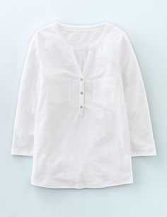 2d1f9d54e6bdac Easy Jersey Shirt WO034 Long Sleeved Tops at Boden White Shirts Women