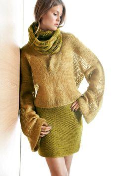 Lana Grossa KURZER ROCK Yak Merino Tiffany - Design Special No. 2 -  Modell Seite 20. Weben · V Ausschnitt ... f68858b34d