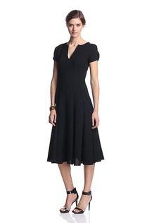 -49,600% OFF Amelia Toro Women's Wool Crepe V-Neck Dress