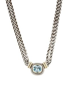 David Yurman Two-Tone Topaz Albion Necklace