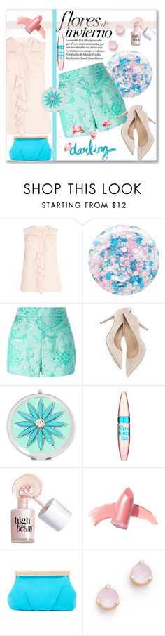 """Floral Shorts"" by kimzarad1 ❤ liked on Polyvore featuring Nails Inc., Moschino, Liz Claiborne, Maybelline, Benefit, Elizabeth Arden, Trina Turk and Kate Spade"