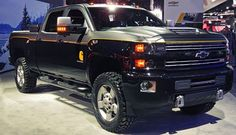 See the 2017 Silverado 2500 HD Carhartt Concept at the North American  International Auto Show. https://www.facebook.com/pages/North-American-International-Auto-Show/111848295498916