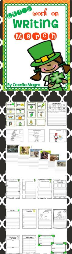 Work on Writing/Writing Centers for March- http://www.teacherspayteachers.com/Product/Lets-Work-on-Writing-March-1124972
